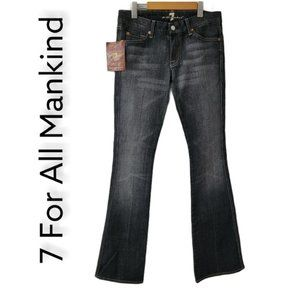 NWT 7 For All Mankind A Pocket Denim Bootcut Jeans S28 Cubic Zirconia Mini Flare